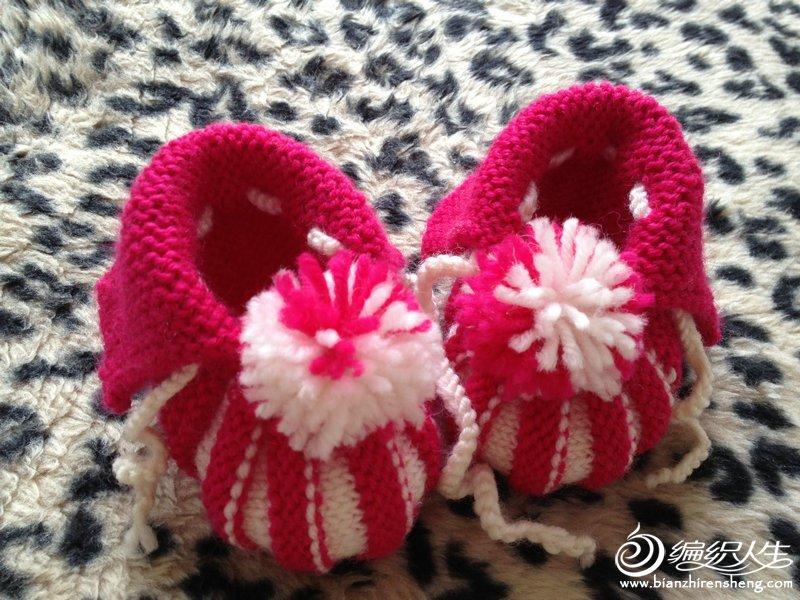 玫红贝壳鞋