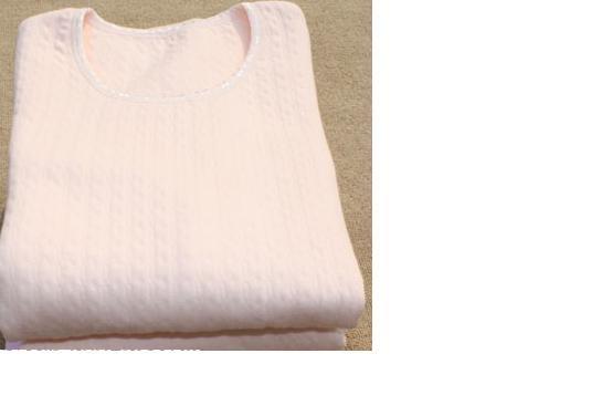 这个是网上买的,保暖孕妇内衣,衣服我穿了,裤子短了,没穿过,上面跳线了,不影响穿,