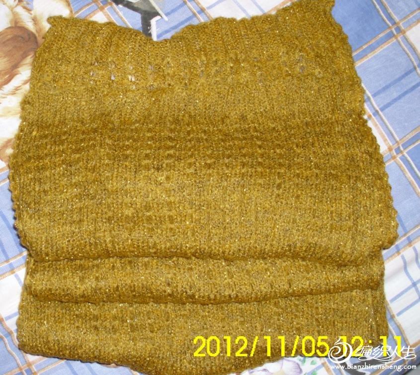 围巾长2.5m,宽55cm,是马海加亮丝,超软,全新,实物比图片暗点,姜黄色,全新,原价85元,现价40元