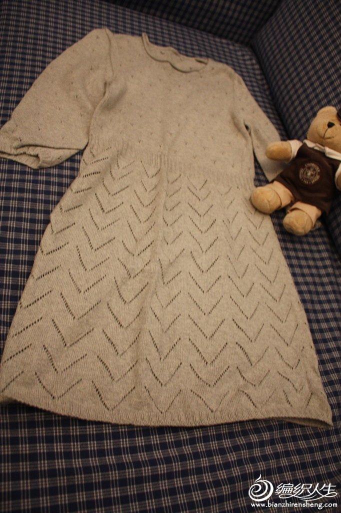 中袖毛衣裙