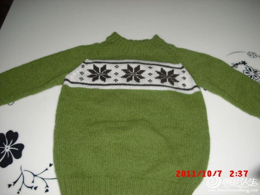 亲子装雪花羊绒衣,儿子版