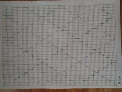 菱形编织图