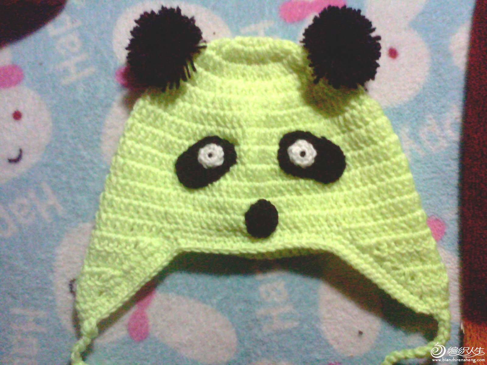 趁热打铁,勾了一个熊猫帽子