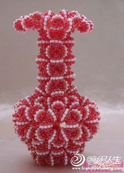 69 手工diy俱乐部 69 其它手工作品及教程 69 串珠花瓶  手工