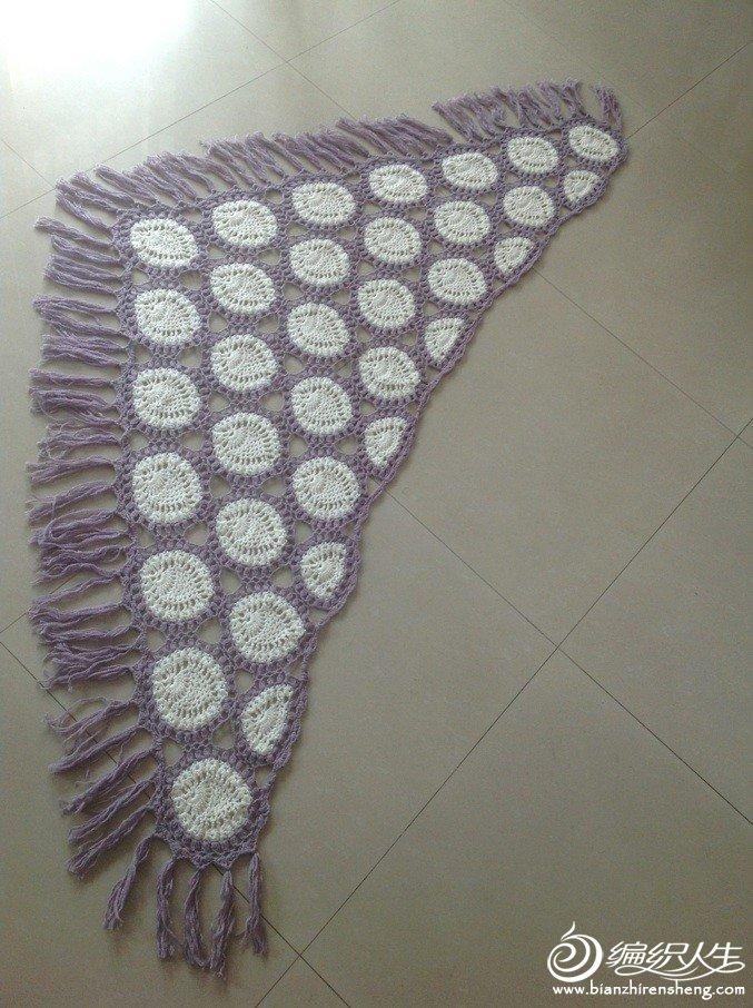 白色三七毛6股,紫色绵羊绒3股