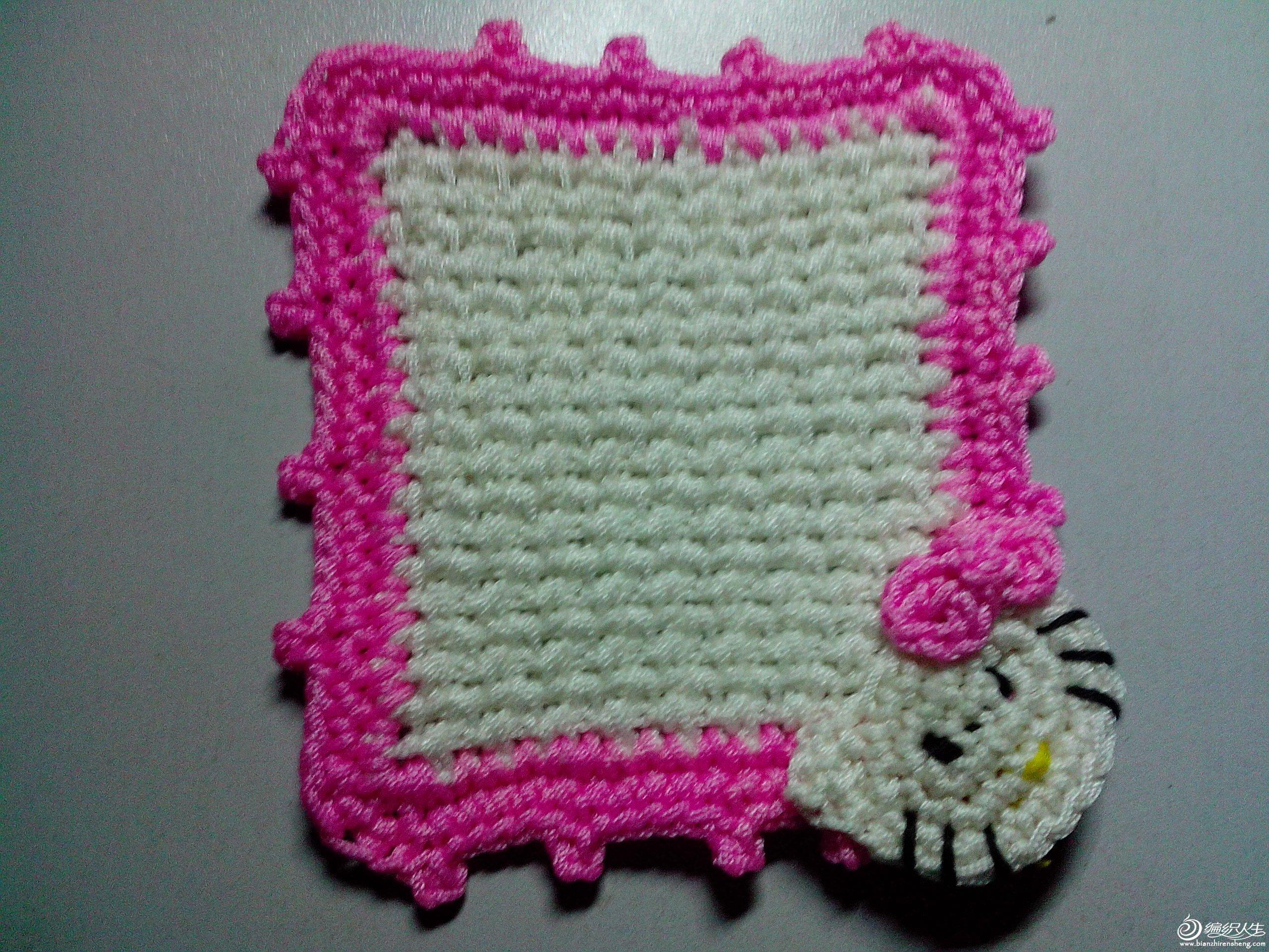 用的白色和粉色空心线