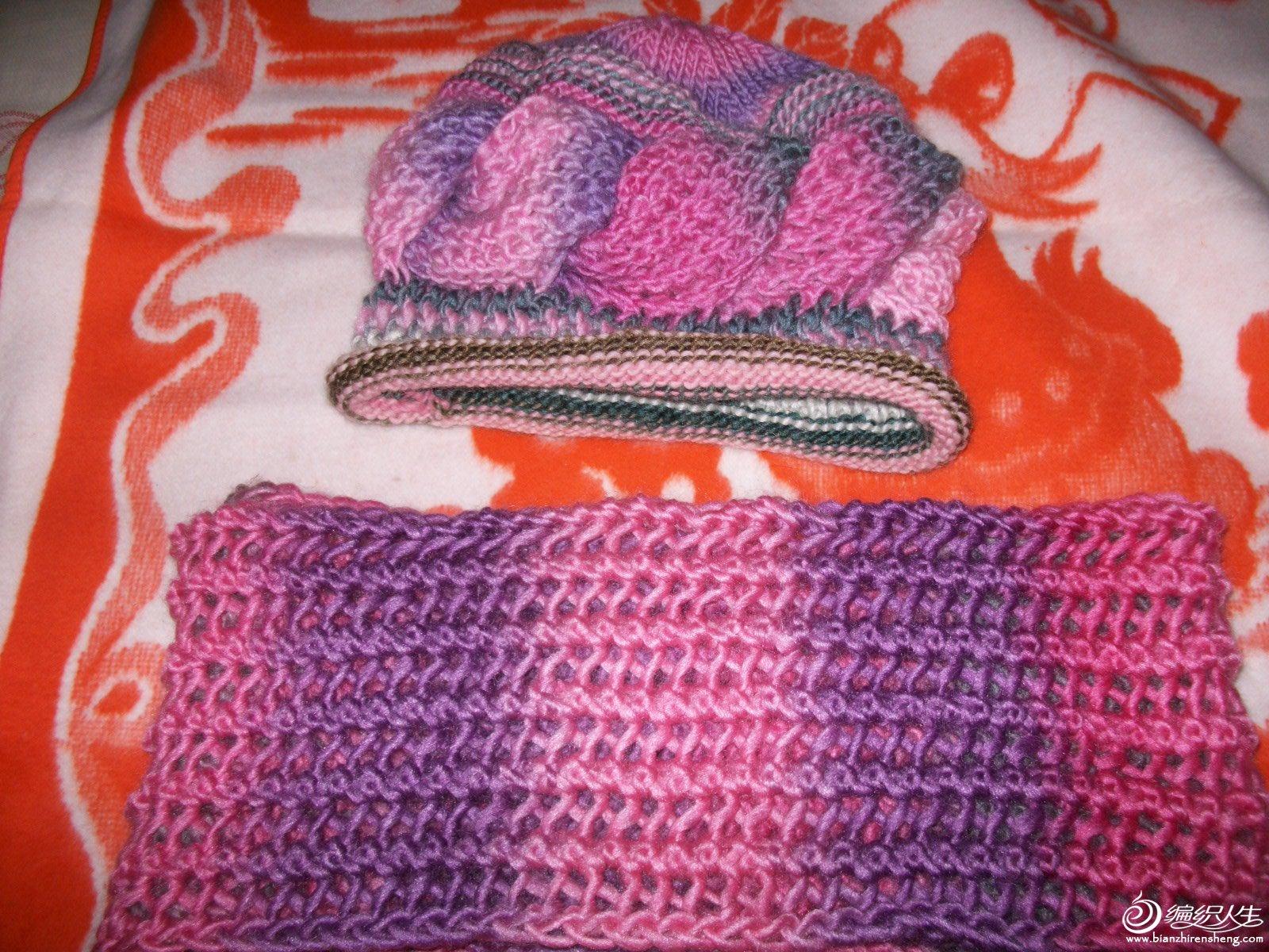 地瓜垅组合帽+围巾