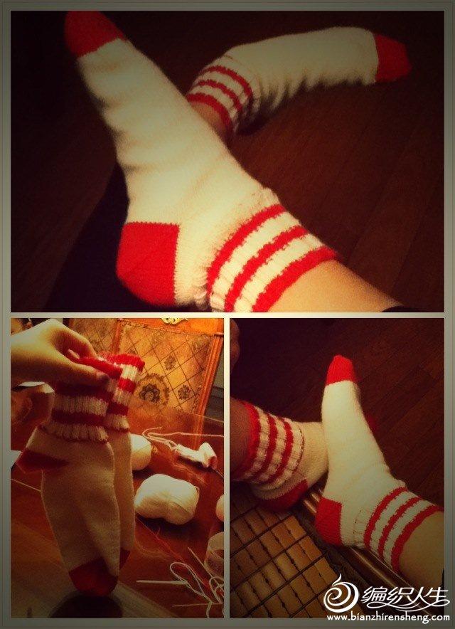 送给姐姐的袜子 幼羊绒 姐姐说很暖