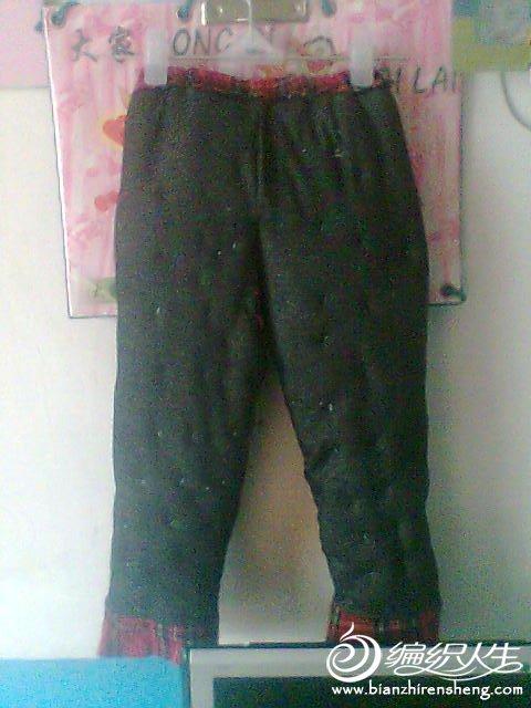 晒晒给宝宝做的手工棉裤 带裁剪图解