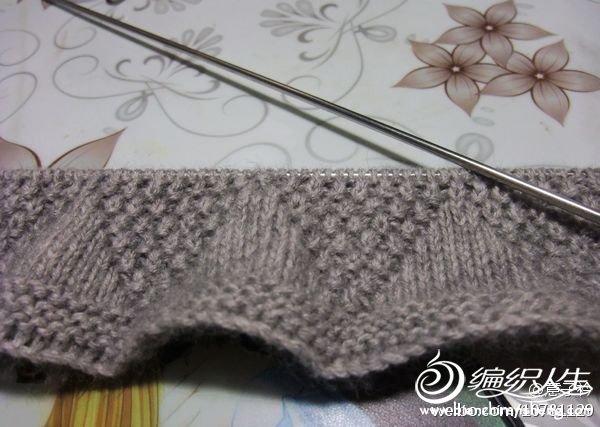 细线是很难织,一下午才织了这么点儿