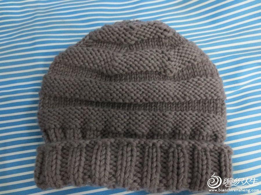 给爸爸织的帽子