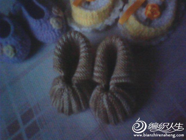 棒针编织的贝壳鞋