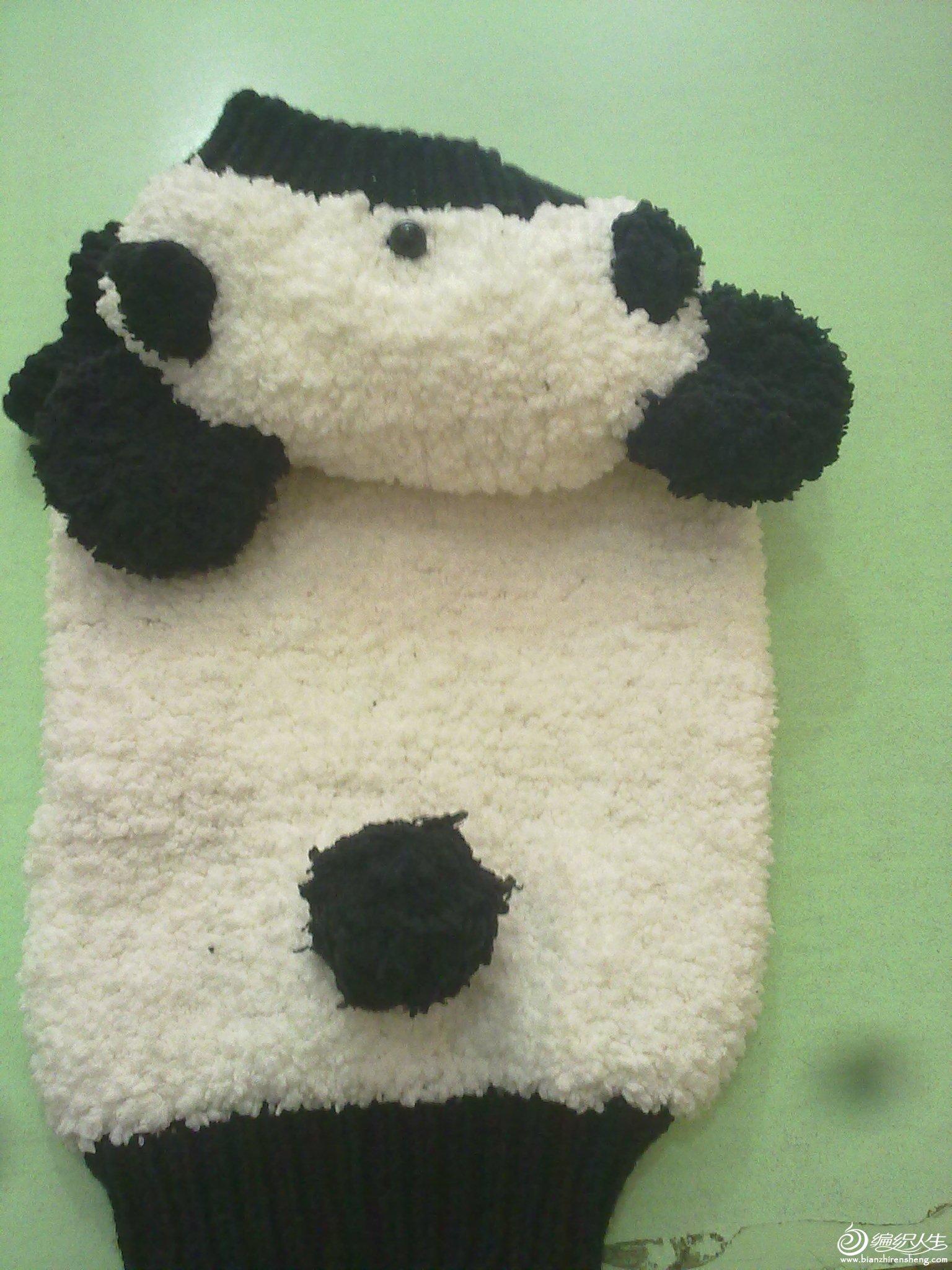绒线熊猫马甲_2005-2010年归档_编织人生论坛