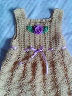 为外甥女的宝宝钩的裙子