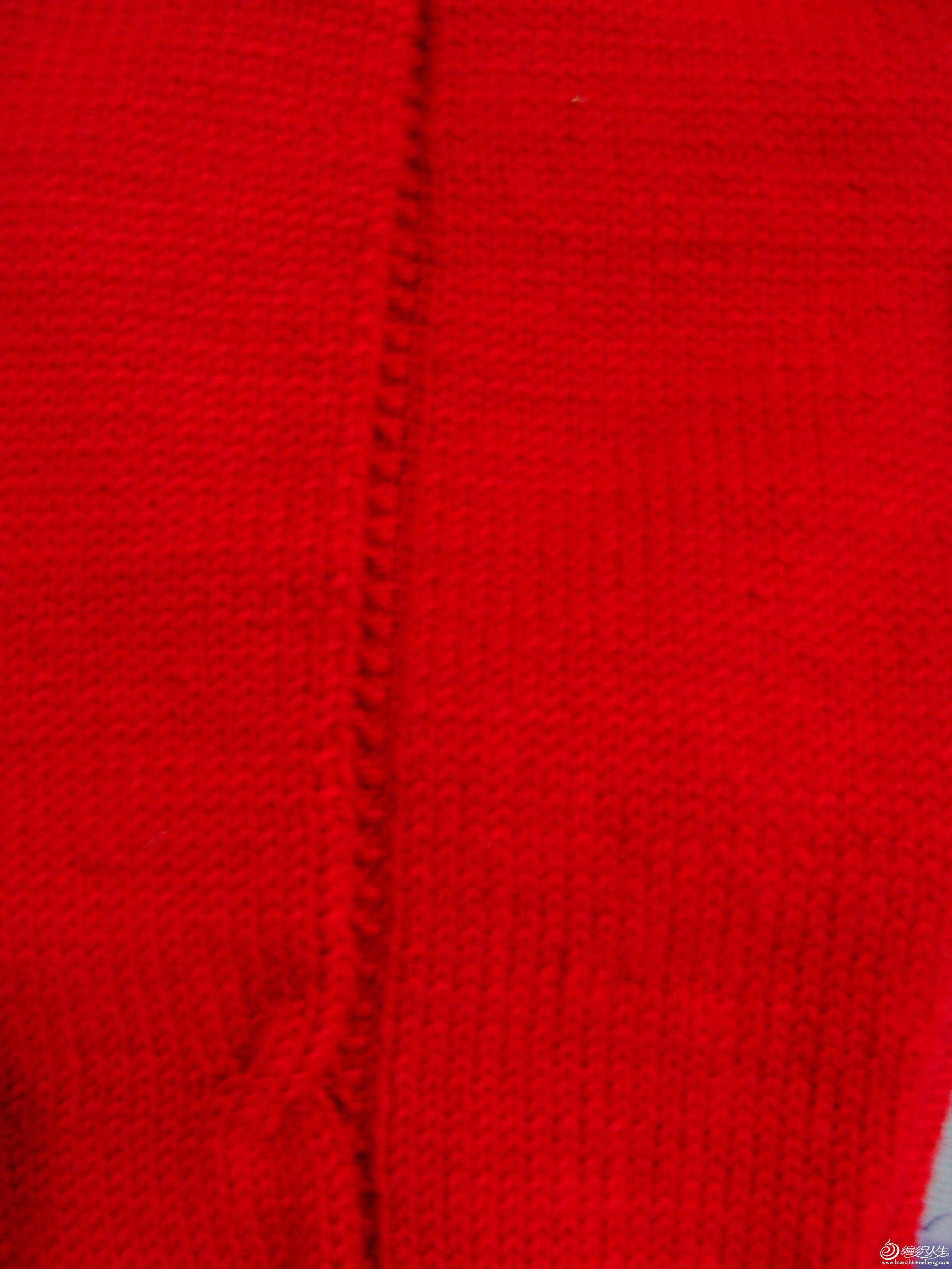 两边各留三针织裤缝,裤缝处是三针,第一行织一针上,一针下再一针上;第二行织三针都只上针,第三行同第一 ...