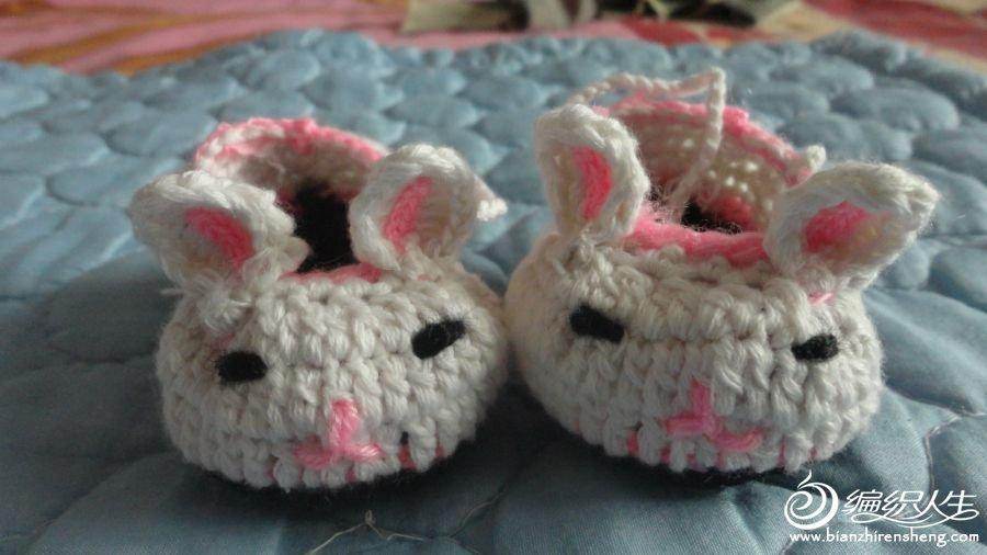 钩针小兔子鞋