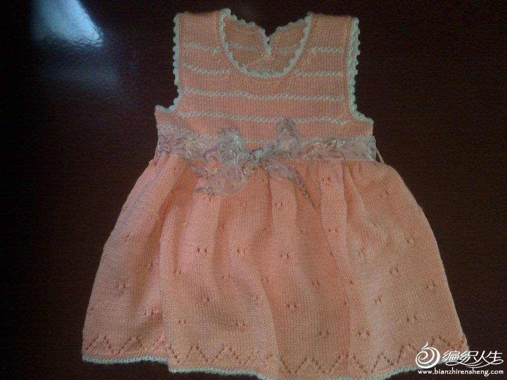 因为没有织过这样的裙子,当时因为尺寸的问题上淘宝上看了好多小孩子裙子的上下身尺寸