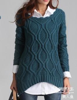 美人鱼绘图--淘宝上的一款休闲毛衣