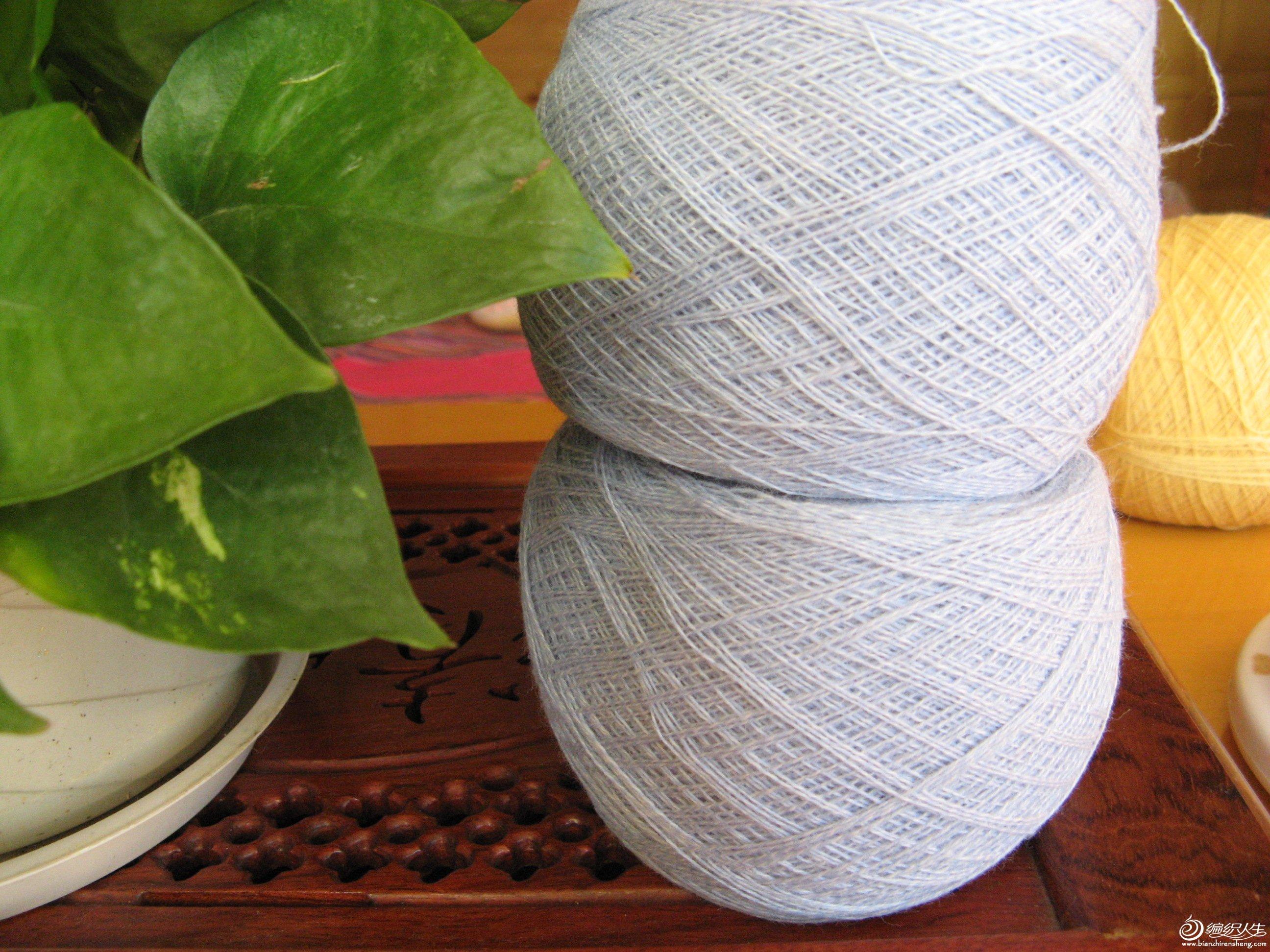大蔷薇家驼绒浅蓝加白(实物颜色是很干净透亮的蓝色,图片拍浅了),582g,58元