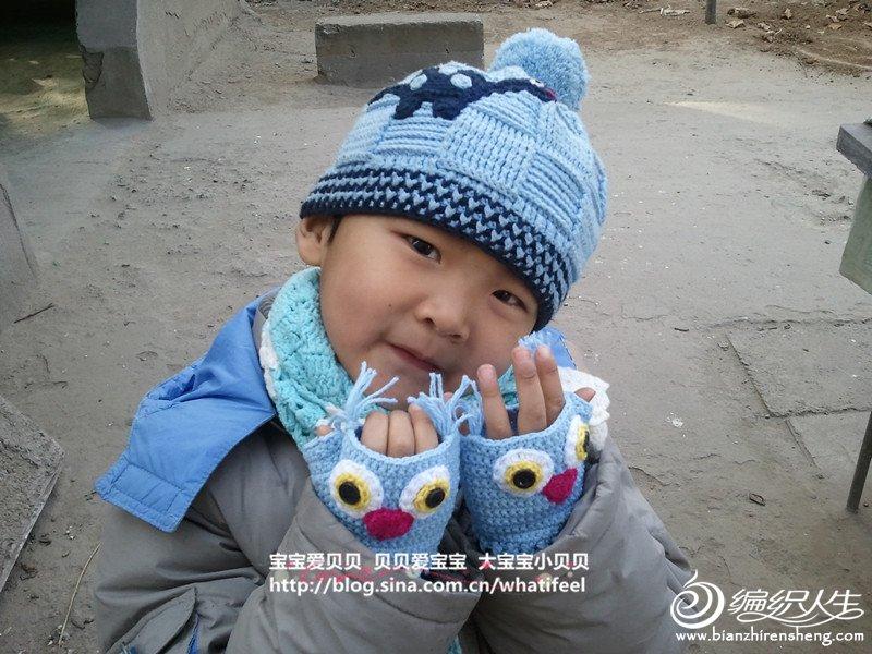 宝贝很喜欢,正好也跟帽子配成了一套,围巾是去年的作品