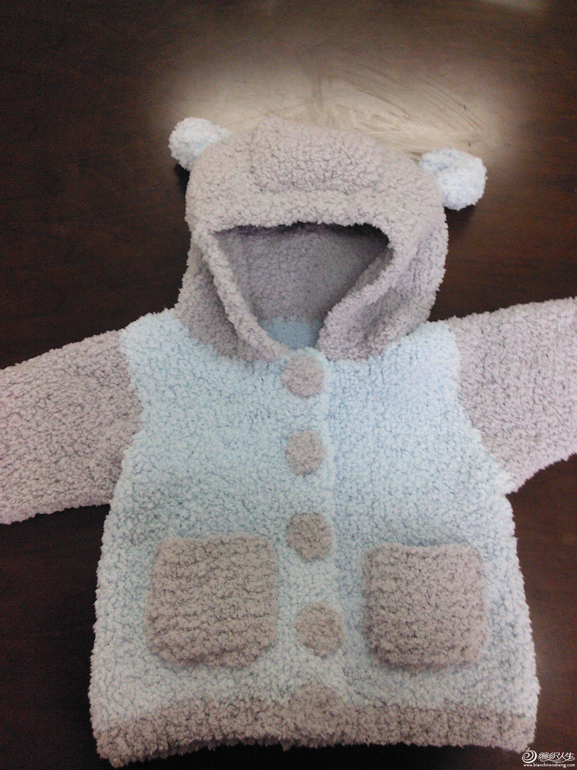 毛绒绒的宝宝外套,可爱