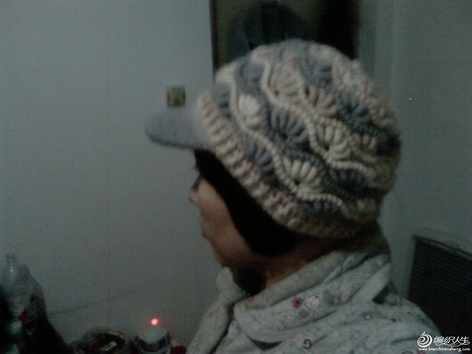 这是我仿的最成功的帽子,加了个帽檐,我的得意之作