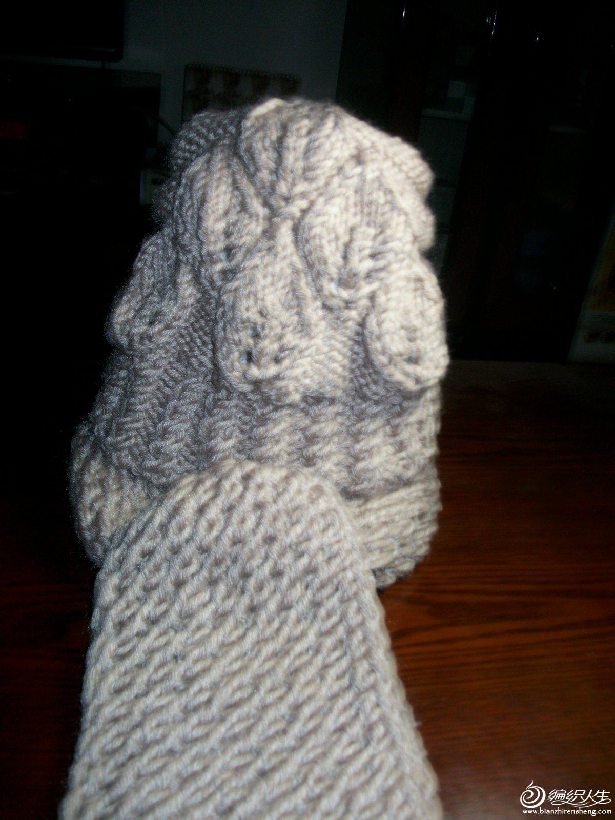 2013受人欢迎的树叶帽 树叶围巾(添加说明)