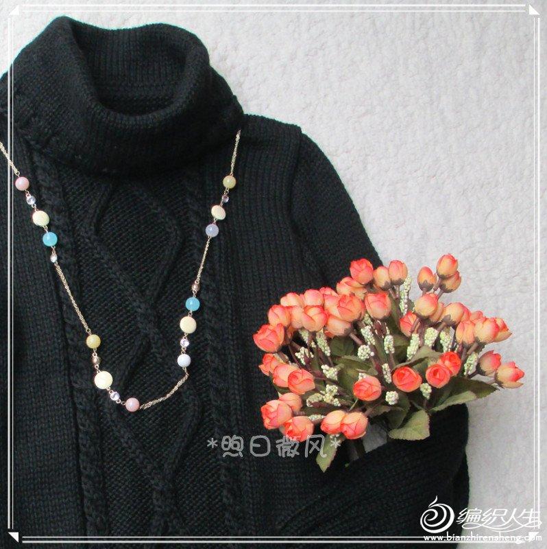 黑色菱形花连衣裙6