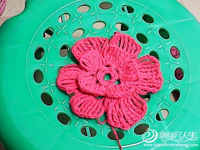 这个是小荷的花瓣围巾图案