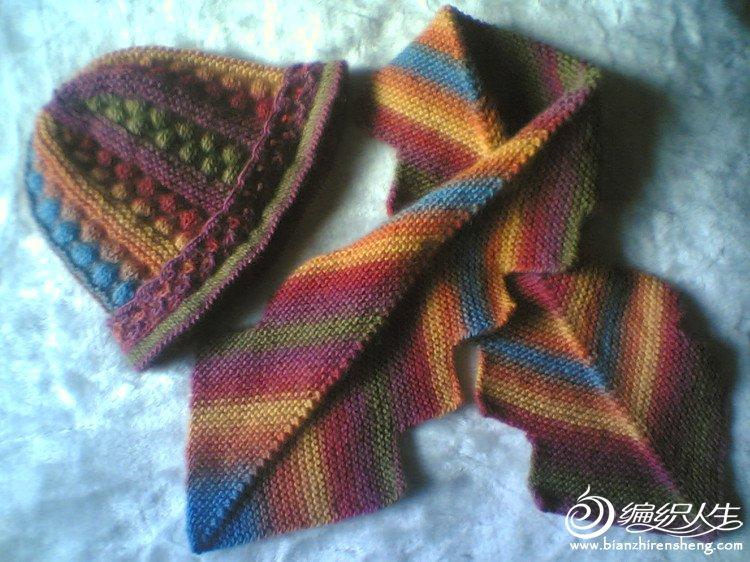 对称斜纹锯齿边围巾