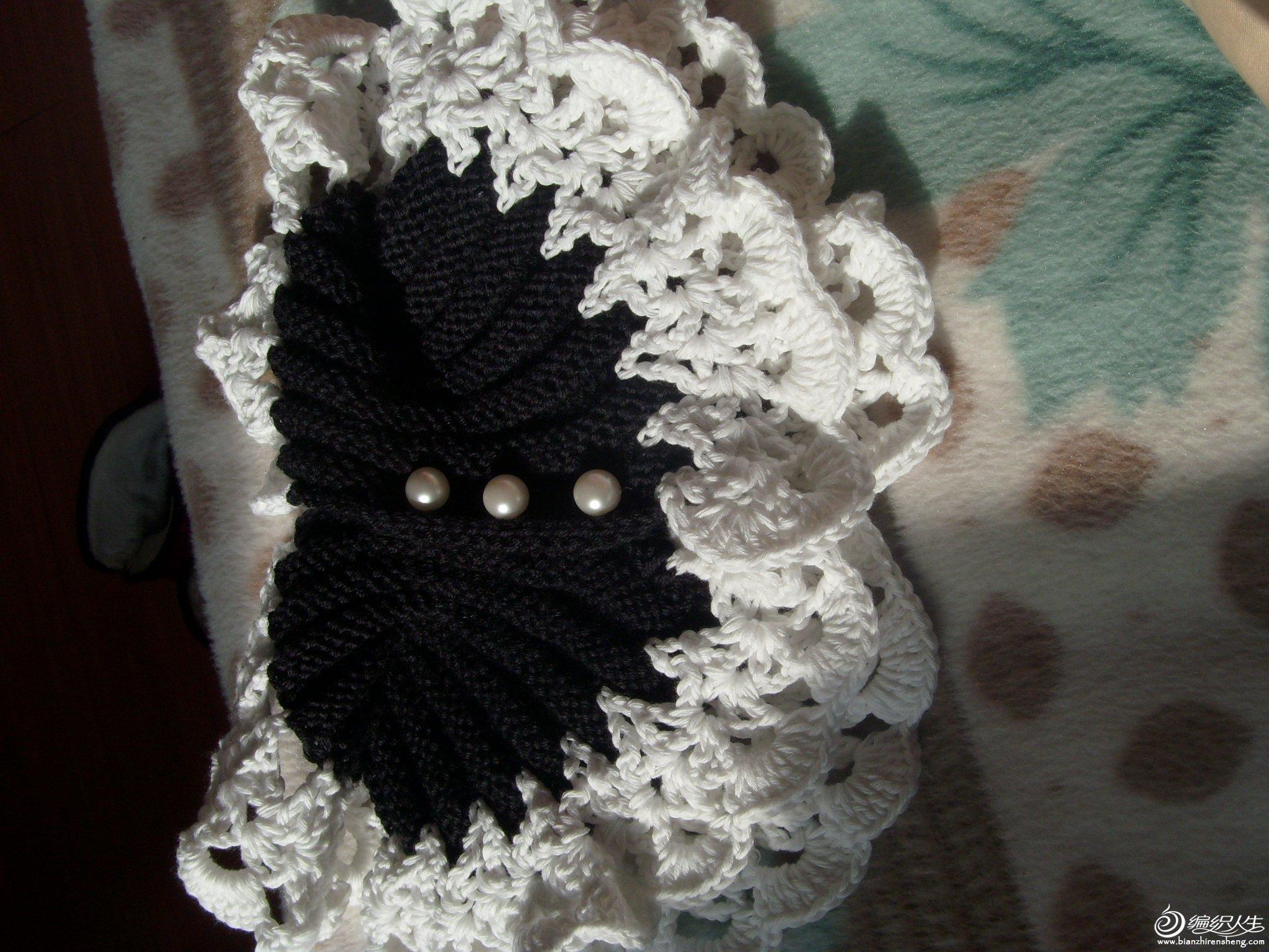 三粒珍珠扣子