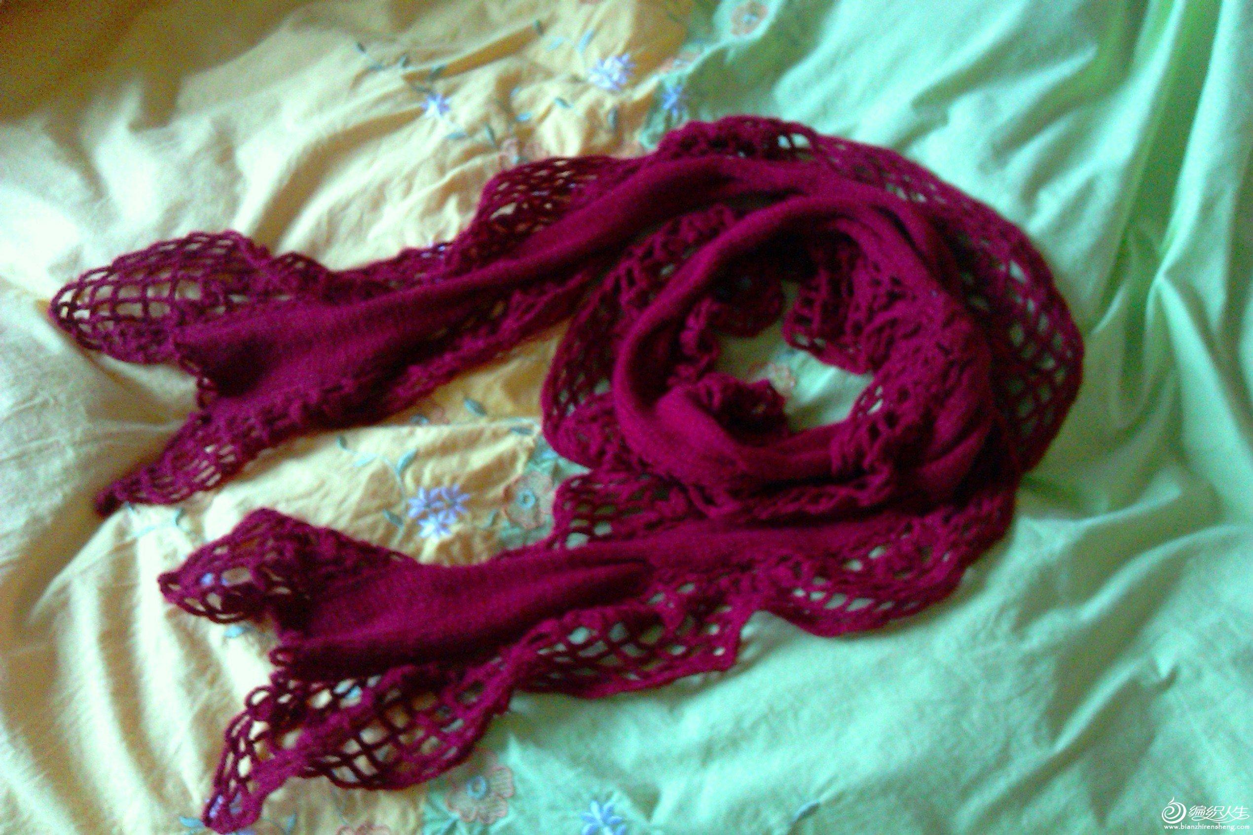 花样织围巾步骤图
