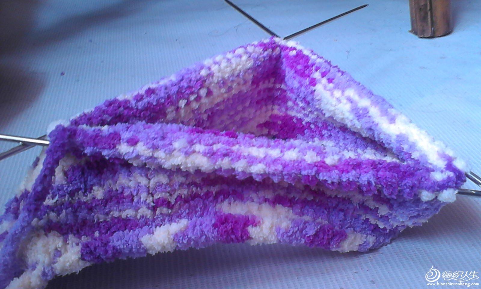 这双是用毛巾线织的