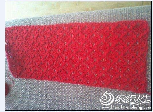 红色怒放花围巾