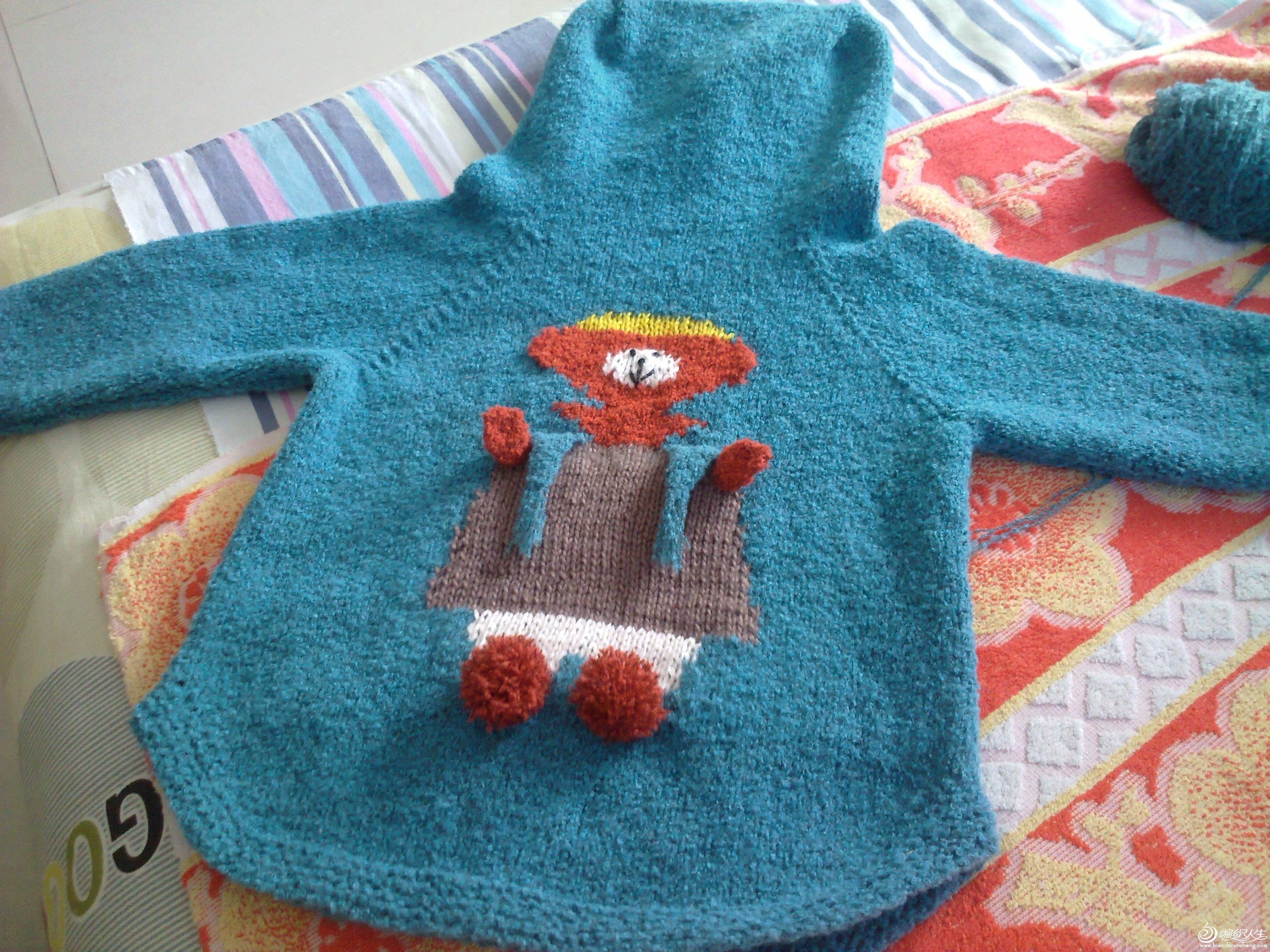 儿童编织围巾