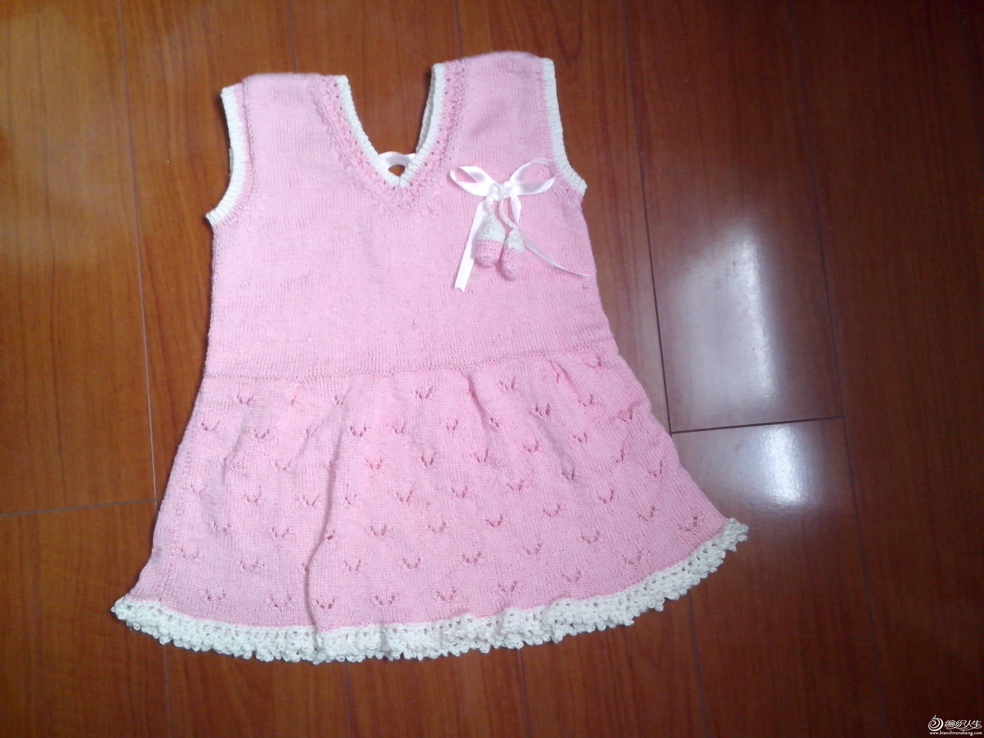 裙 蔷薇花 [50~80cm婴幼儿毛衣] 【巧手妈咪】-----q梦-----儿童背心
