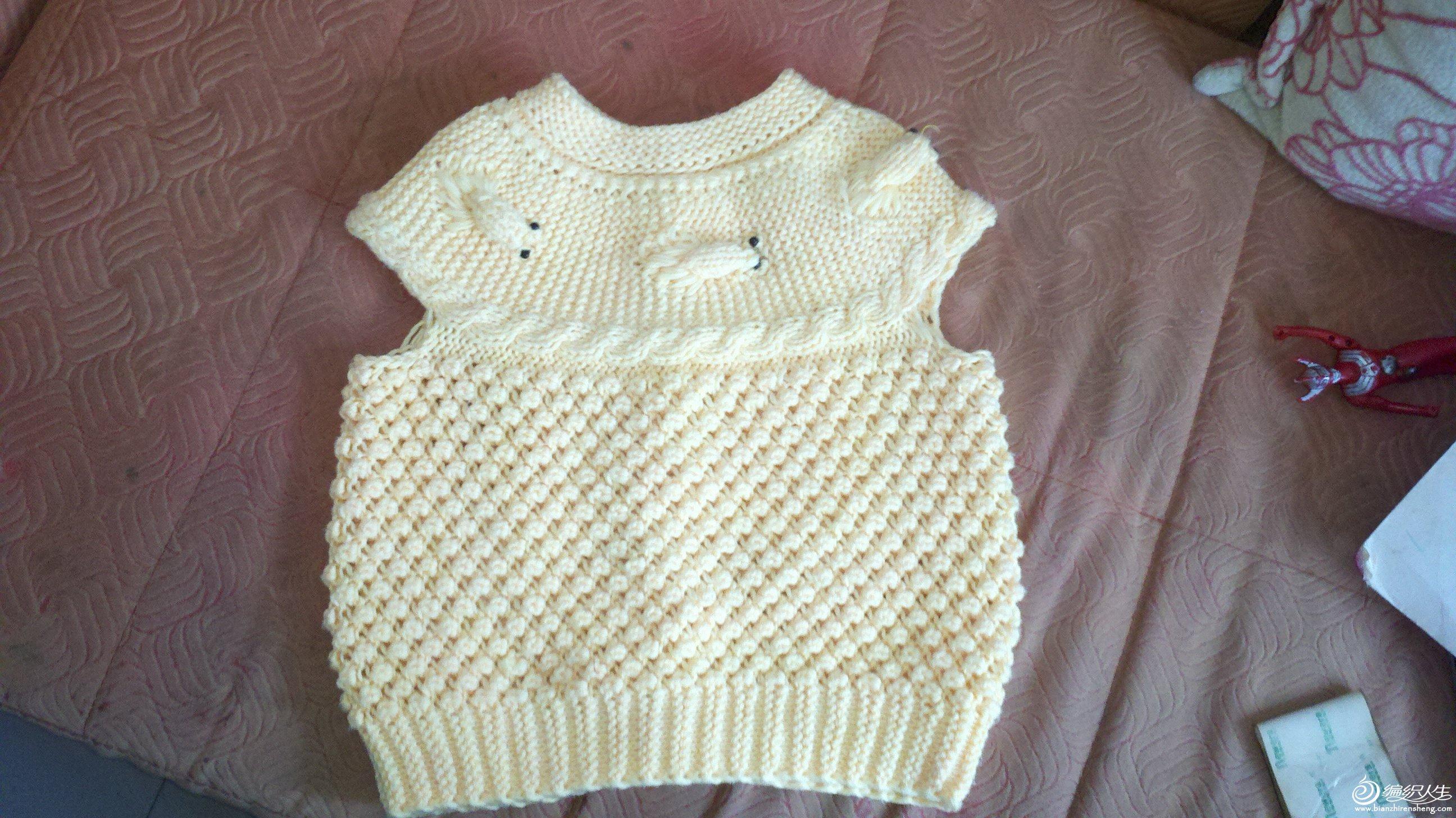 钩针编织多层婴儿衣服 儿童 毛线 背心 裙教程   韩版小背高清图片