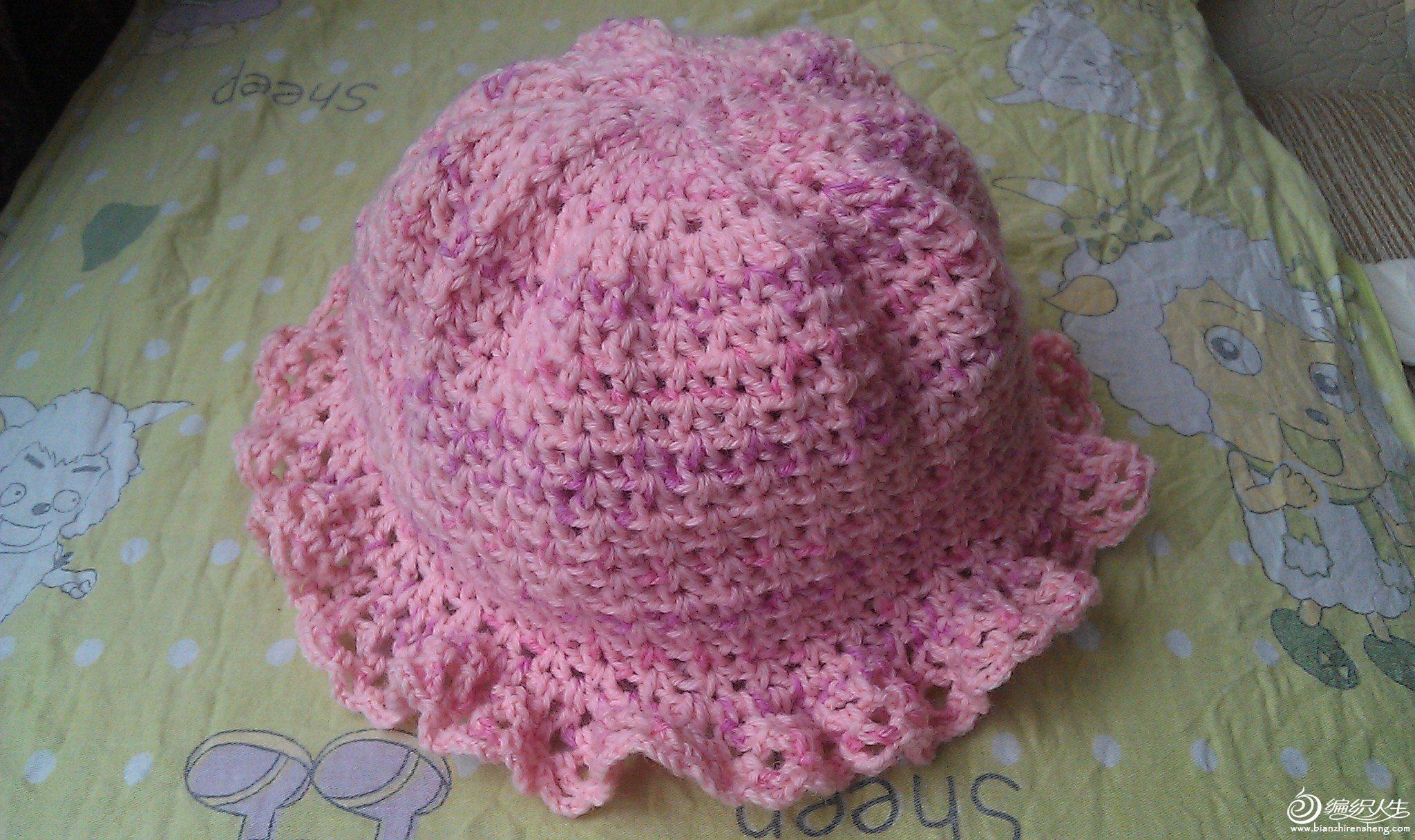 第一款勾针作品完成,儿童帽子_儿童毛衣(钩针)_编织