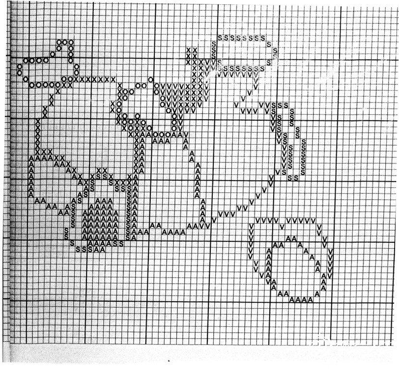 图纸衣服儿童毛衣(卡通图解)松鼠图案自制黑白图片