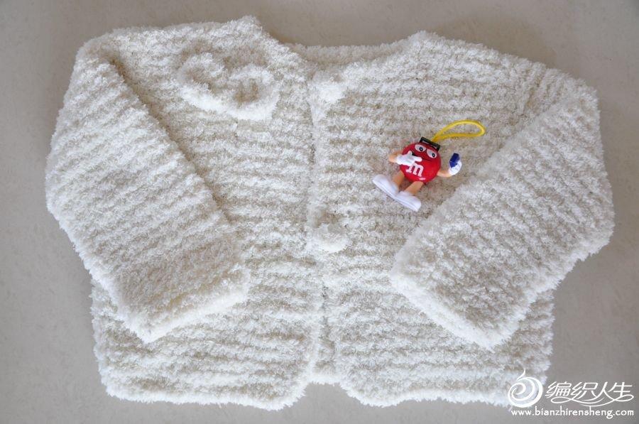 毛巾线织的熊猫马甲和公主衫
