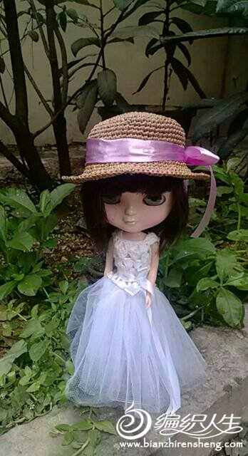 Blythe小布娃娃棉草帽