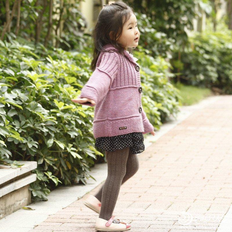 原创―春天的天使―小女孩毛衣真人秀(补充图解已上)