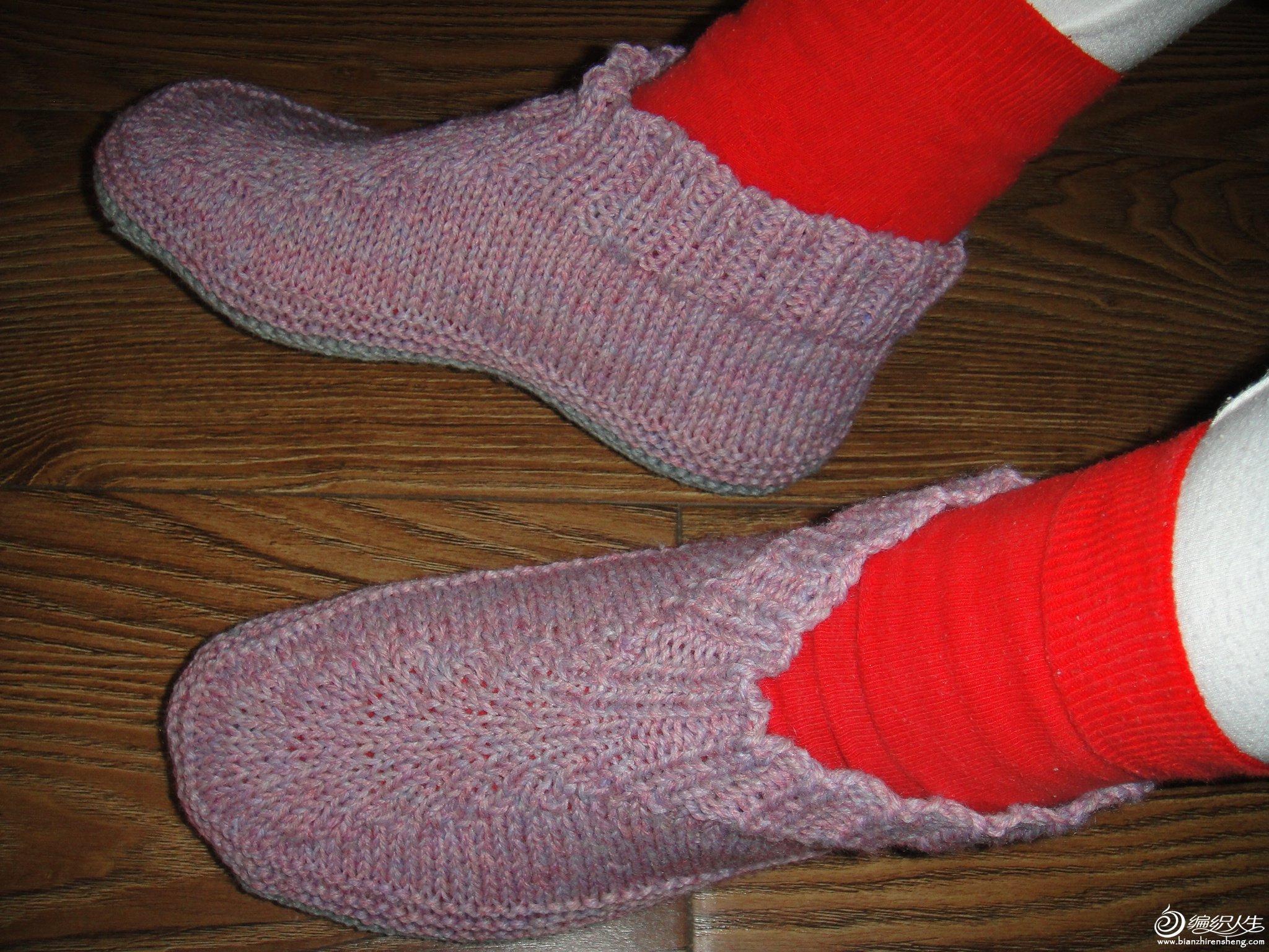 宝宝地板袜的织法步骤图图
