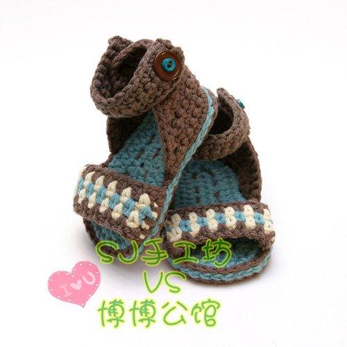 求教:爆款宝宝凉鞋的钩法