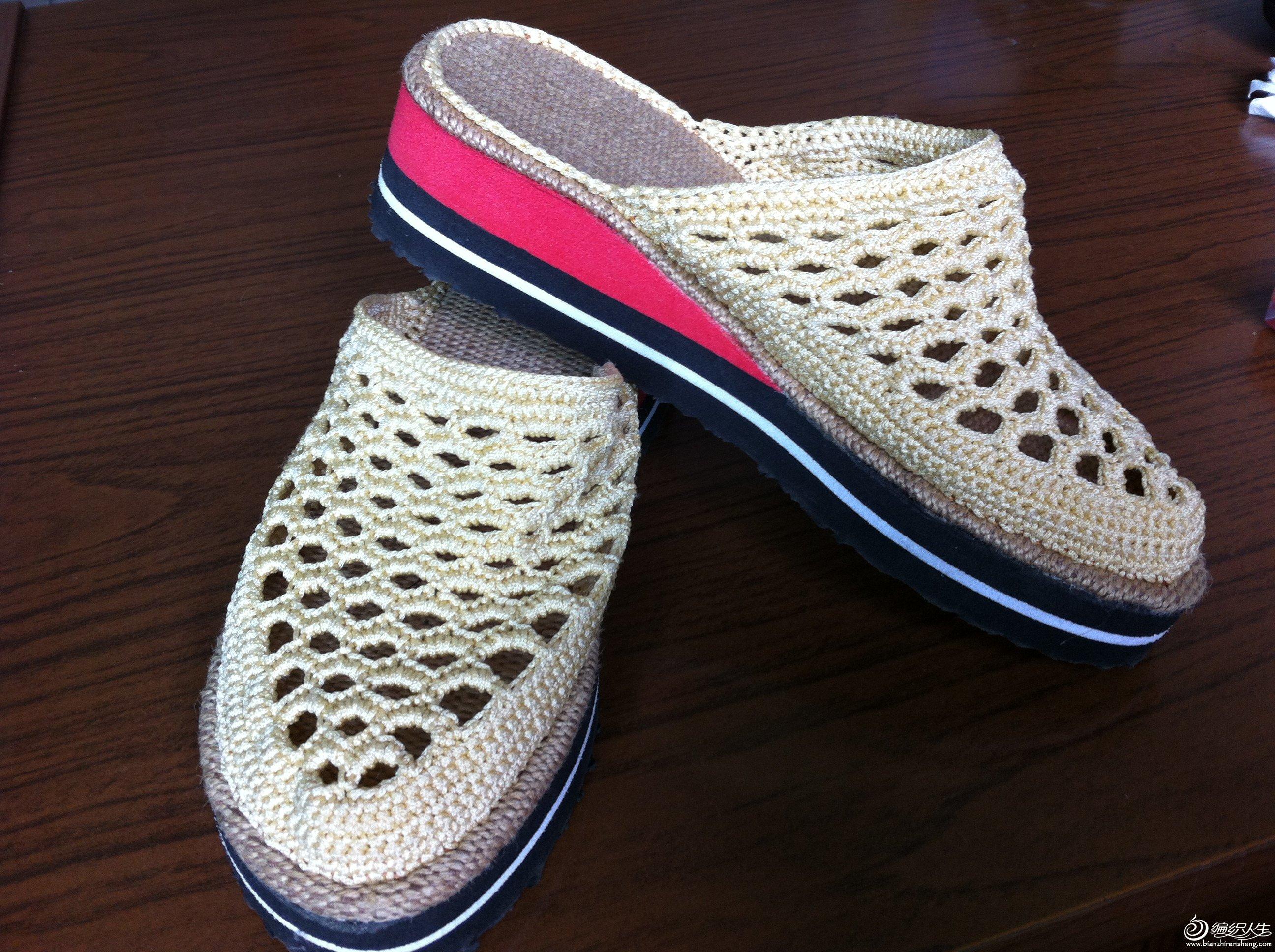 编织拖鞋 61  我钩的一些拖鞋