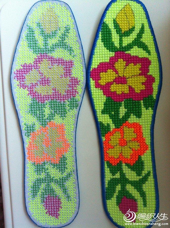 十字绣鞋垫图案内容|手工网十字绣鞋垫图案版面设计