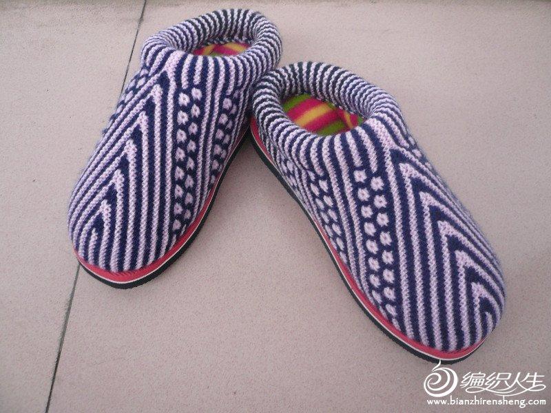 手工编织棉拖鞋图片_纯手工编织毛线拖鞋_毛线手工编织鞋拖鞋_手