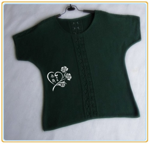 [女式毛衣] 【小凡作品】夏绿---墨绿蝙蝠衫 - yn595959 - yn595959  彦妮