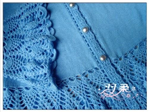 雀之翎————钩织结合小清新开衫 - 手有于香 - 手有于香的博客