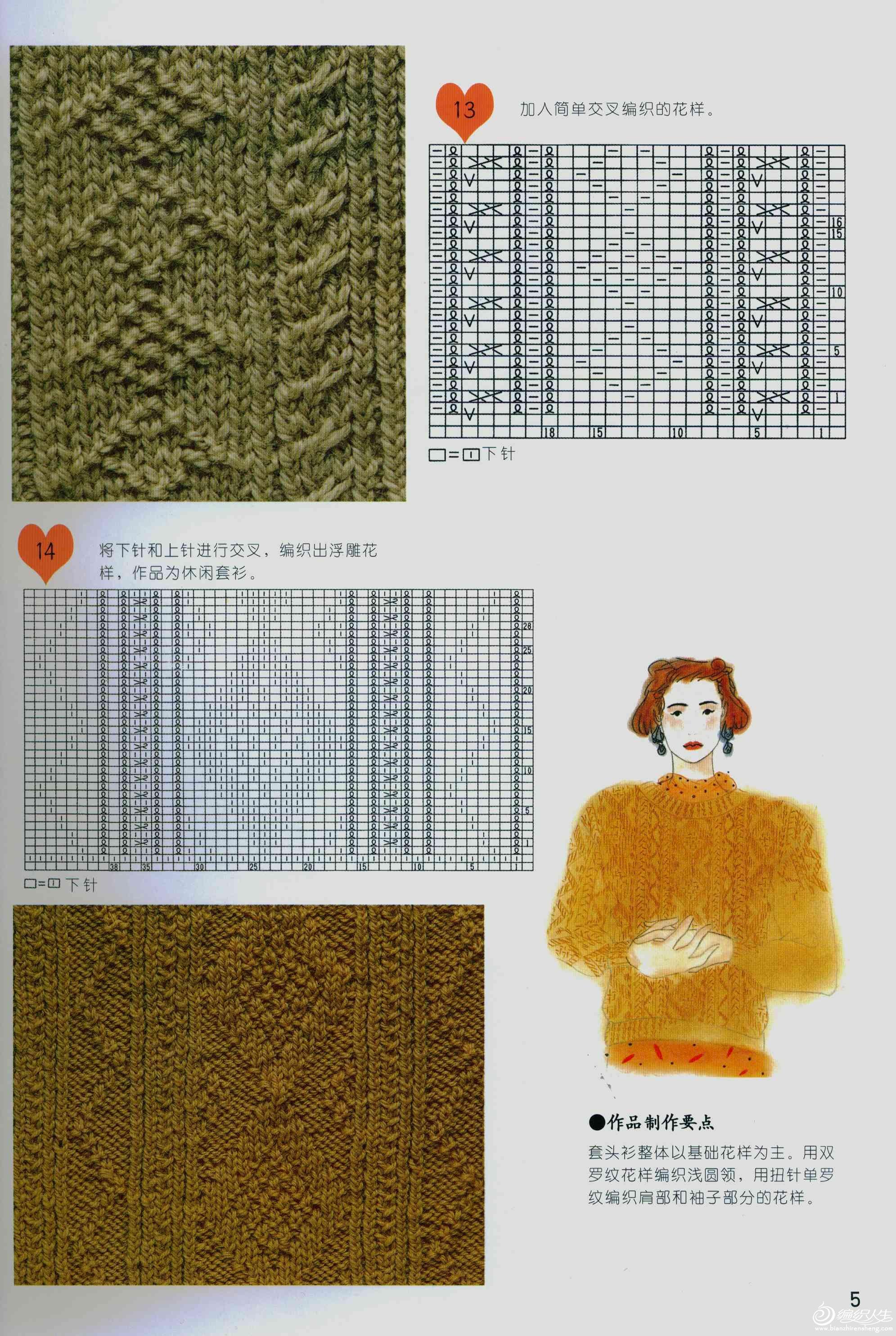 棒针编织花样与组合方法